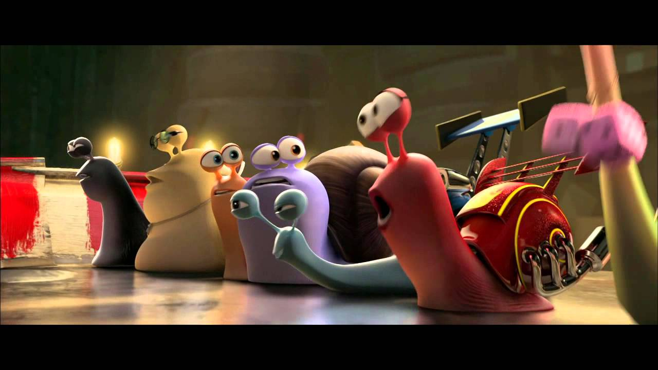 turbo: snail race 2013 movie scene - youtube