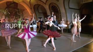 Russia  Kremlin Ballet dancers transform Novoslobodskaya metro station into ballet stage