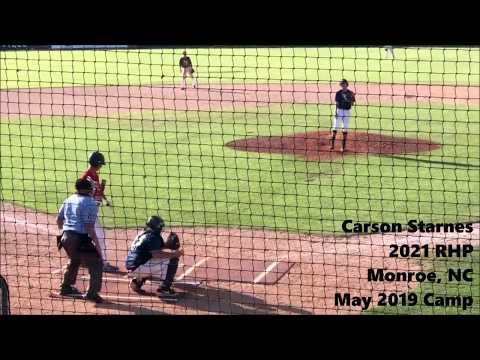 Carson Starnes (2021 RHP) *SHOWCASE HIGHLIGHTS* - Monroe, NC - Parkwood High School