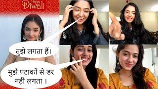 Anushka Sen Diwali Special Live Video | Anushka Sen and Jannat Zubair Rahmani Live Video