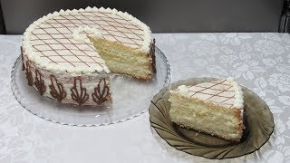 """Домашний торт """"Белоснежка"""". Очень простой и вкусный торт к чаю или на праздник!!!"""