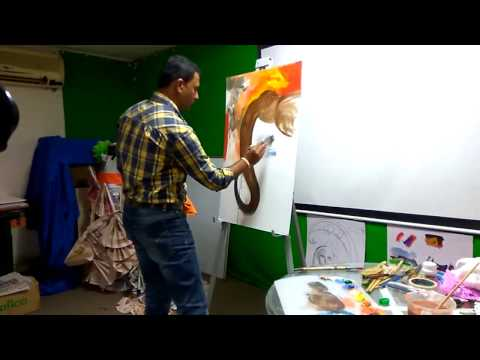 Canvas Painting Workshop by Shreekant Kadam At D.P Road Center