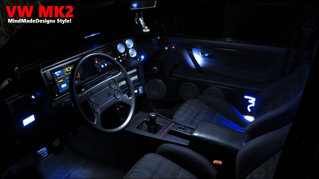 Lights LED Interior VW Golf II - YouTube