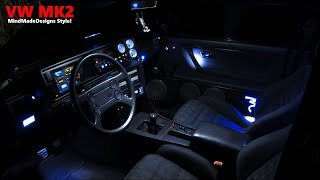 diy car mods car leds diy install interior exterior lights vw golf vw jetta mk2 led diy car. Black Bedroom Furniture Sets. Home Design Ideas