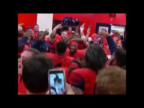 Syracuse locker room celebration after upsetting Clemson! Syracuse kicker room celebration crazy