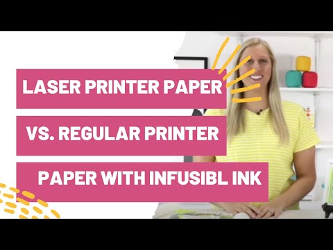Laser Printer Paper vs. Regular Printer Paper With Cricut Infusible Ink Markers