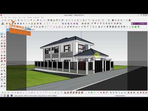 Hướng dẫn render mặt cắt trong sketchup, how to render section plan in Sketchup