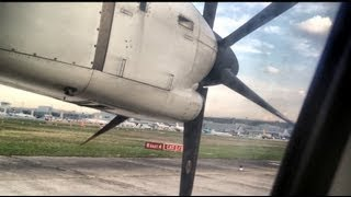 ATR-72 takeoff and hard landing