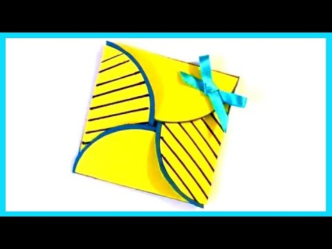 Papercraft How to make a Simple Origami Card - Birthday Handmade Gifts - DIY Paper Crafts - Art Tutorials