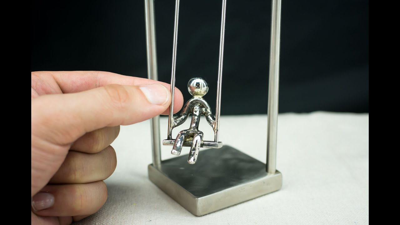 Little Swinging Guy Kinetic Balancing Desk Toy Sculpture Physics Art You