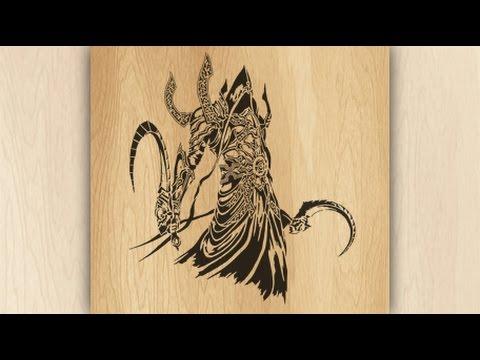 Reaper of Souls (Diablo 3) Making of scroll saw portrait pattern ...