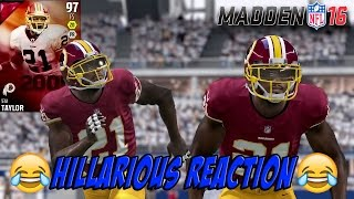 LEGEND SEAN TAYLOR MADE HIM RAGE! BEST RAGE VIDEO!- MADDEN 16 DRAFT CHAMPIONS GAMEPLAY