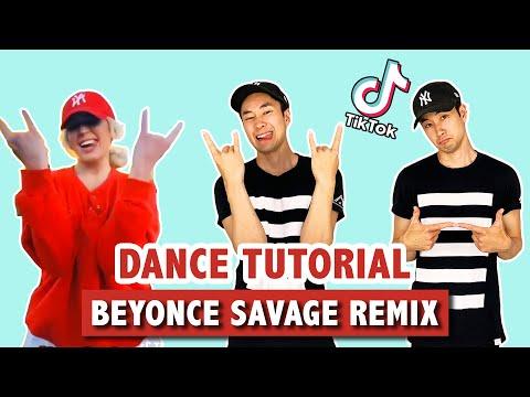 SAVAGE REMIX (SLOW TUTORIAL) | TIK TOK DANCE