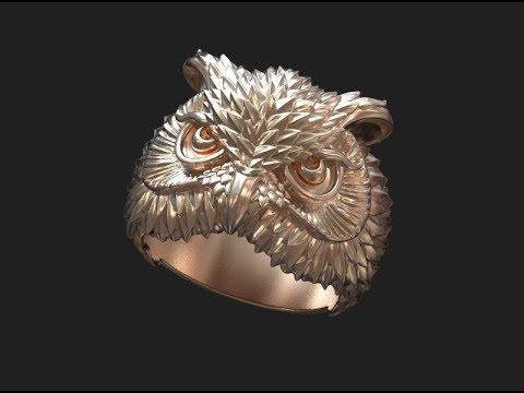 3D-COAT modeling jewelry from JM. Моделирование ювелирных изделий. Кольцо сова.