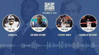 Cowboys, Antonio Brown, LeBron James, Carmelo Anthony | UNDISPUTED Audio Podcast