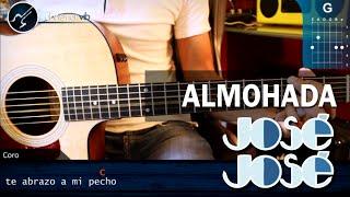 Como tocar Almohada JOSE JOSE En Guitarra Acustica (HD) Tutorial Acordes