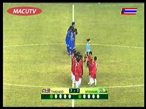 ดวลจุดโทษ ฟุตบอลหญิง รอบตัดเชือก ไทย-พม่า 19 ธันวาคม 2556 Penalty kick