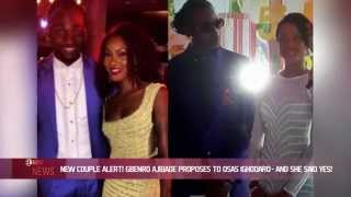 New Couple Alert Gbenro Ajibade Proposes to Osas Ighodaro and She Said Yes - EL NOW News