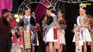 Crowning Lily Vang  - Sacramento Hmong New Year 2015-2016