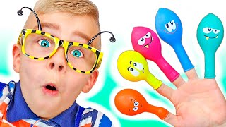 Learn Colors with Balloons Song   Tamiki Amiki Nursery Rhymes & Kids Songs