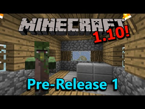 Minecraft 1.10 Pre-Release 1- Zombie Villages, Bug Fixes, Teleport Command!