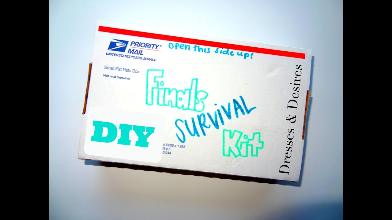 Diy Finals Survival Kit Youtube