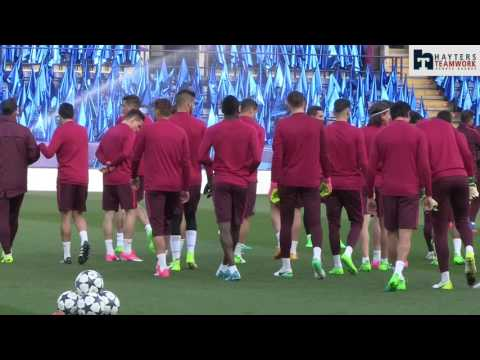 Griezmann and Atleti train ahead of Leicester tie
