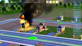 """SimCity """"Glass Box Scenario 3 - Creation & Spread of Fire"""" Trailer"""