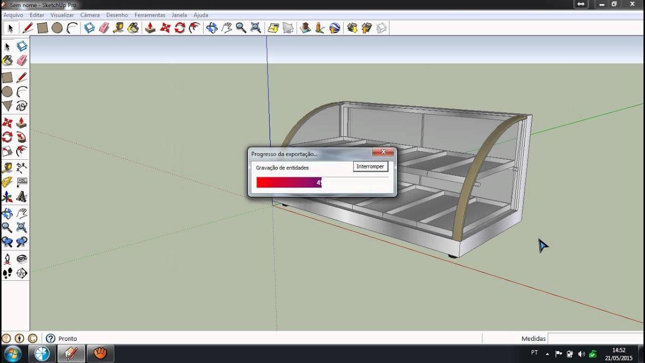 Como importar arquivo 3d do sketchup para o promob 123vid for Azulejos para sketchup 8