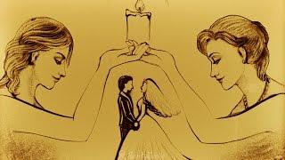 Рисование песком на свадьбу от студии SandySmile