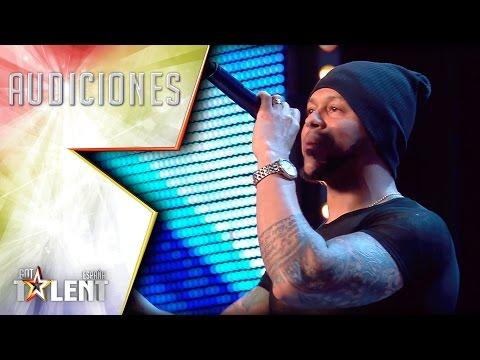 Roberto ametralla al público con la velocidad de su rap | Audiciones 3 | Got Talent España 2017