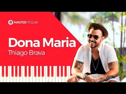 💎 Thiago Brava - Dona Maria - EASY - Piano tutorial - Master Teclas💎