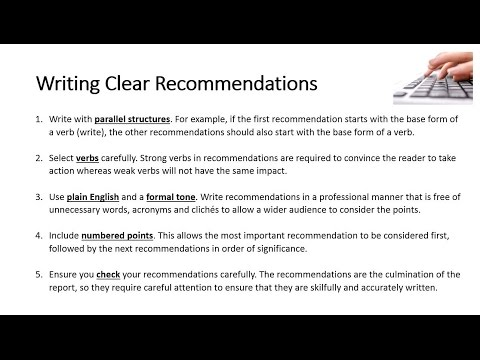 Writing Clear Recommendations - YouTube