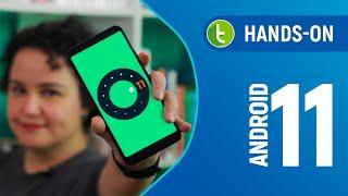 ANDROID 11 R: TEMAS e conversas em BALÕES chegam ao sistema | Hands-on em vídeo