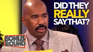 NO WAY! THESE ANSWERS ARE GUARANTEED TO MAKE YOU LAUGH! Family Feud USA With Steve Harvey