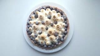 Пирог из черной смородины с меренгой🍇вкусно и красиво🍇Black currant meringue pie🍇