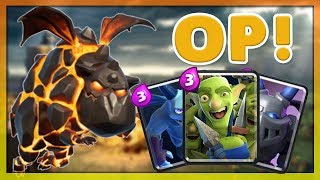 THE MOST EASY 12 WIN DECK?!  Best Lavahound Tournament Deck - Clash Royale