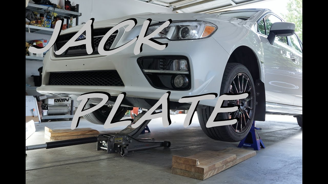 how to jack up your subaru wrx front jack plate 2015