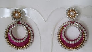 How to make Silk Thread Chandbali earrings