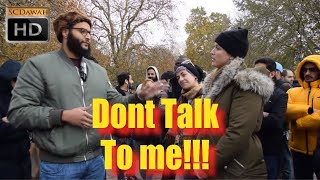 P1 - Don't Talk to me! Mohammed Hijab & Agnostic Girls | Speakers Corner | Hyde Park