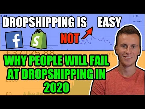 Dropshipping Is (NOT) Easy | Why MOST People WILL Fail in 2020 (Beginner Mistakes) thumbnail