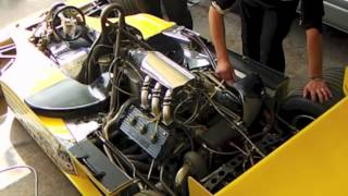 F1 :[The Sound of Turbo Engine ]Renault RS01 engine warming-up