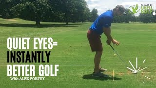 Improve Ball Striking Consistency: Keep Your Head and Eyes Quiet