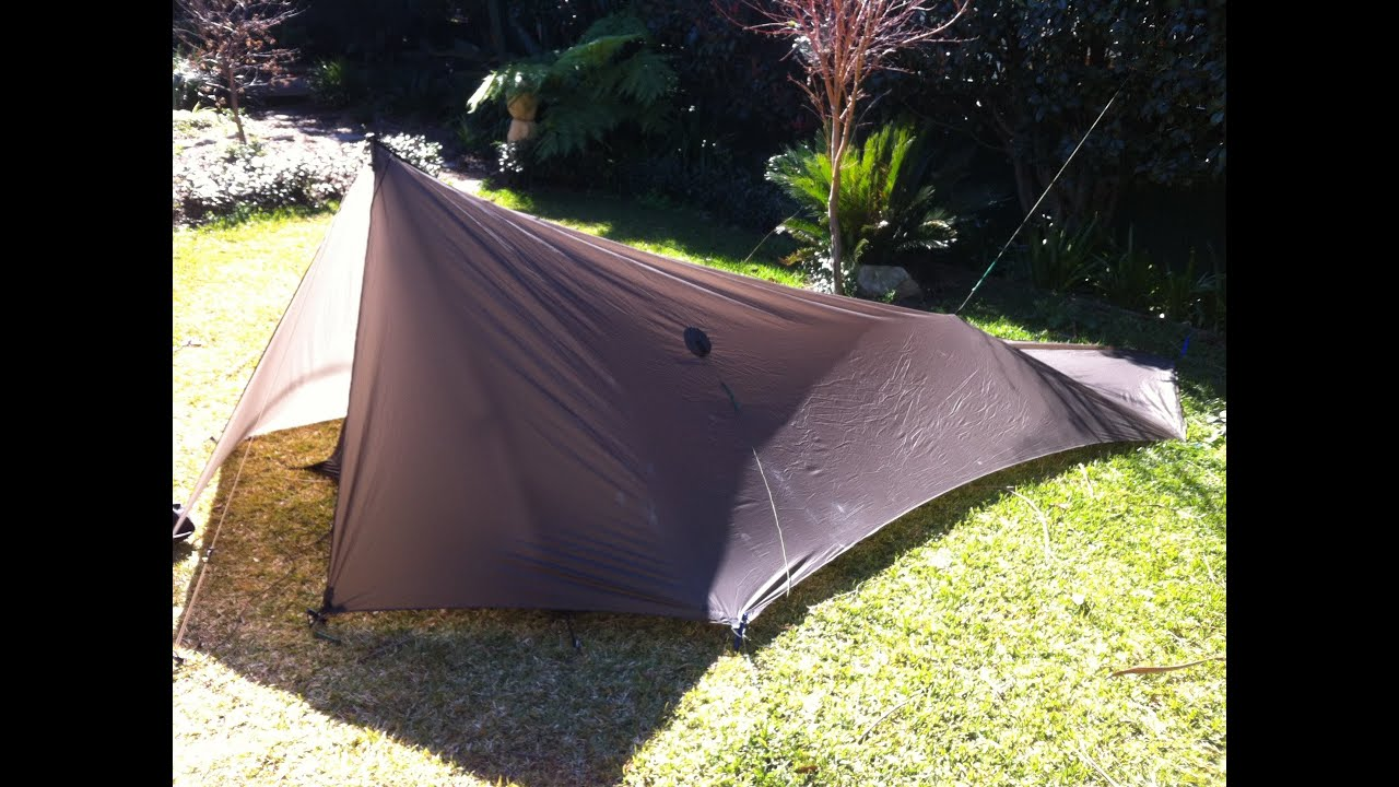 Tent Tarp with Bug Net - Warbonnet Superfly tarp setup for ground dwelling - YouTube & Tent Tarp with Bug Net - Warbonnet Superfly tarp setup for ground ...
