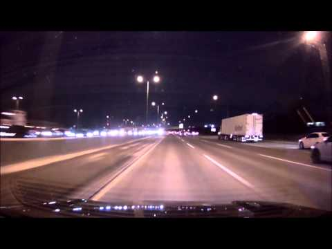 Driving into Chicago and back out Dash Cam video.