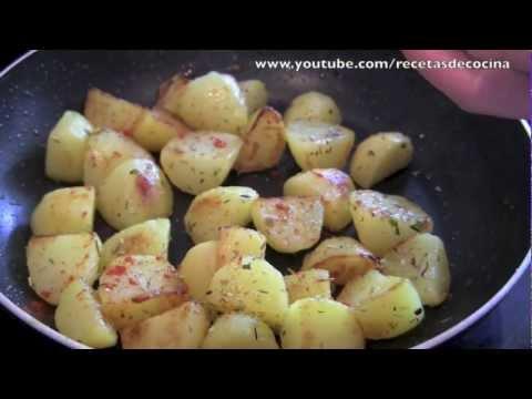 Patatas de guarnición fáciles para acompañar pescados y carnes - Recetas de cocina fácil