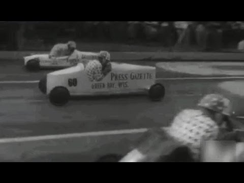 1953 Akron (OHIO) Soap Box Derby Racing Soapbox cars - Carrera Coches Artesanales de Akron