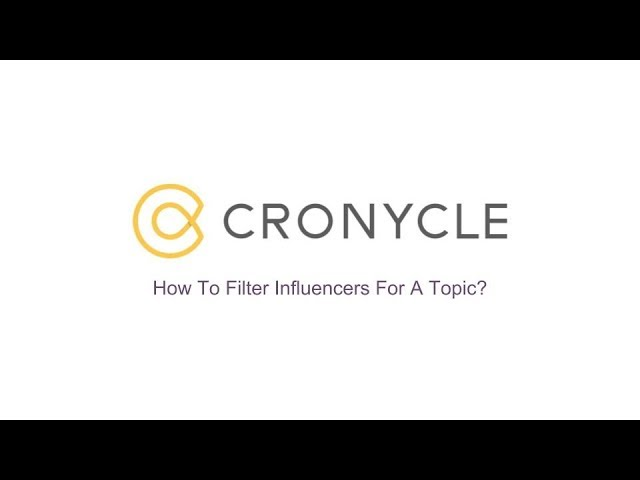 Filter Influencers For A Topic