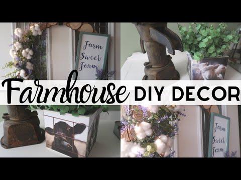 FARMHOUSE DECOR DIYS   FARMHOUSE WOOD SLICE WREATH DIY   FARMHOUSE STYLE   WALMART DECOR DIYS