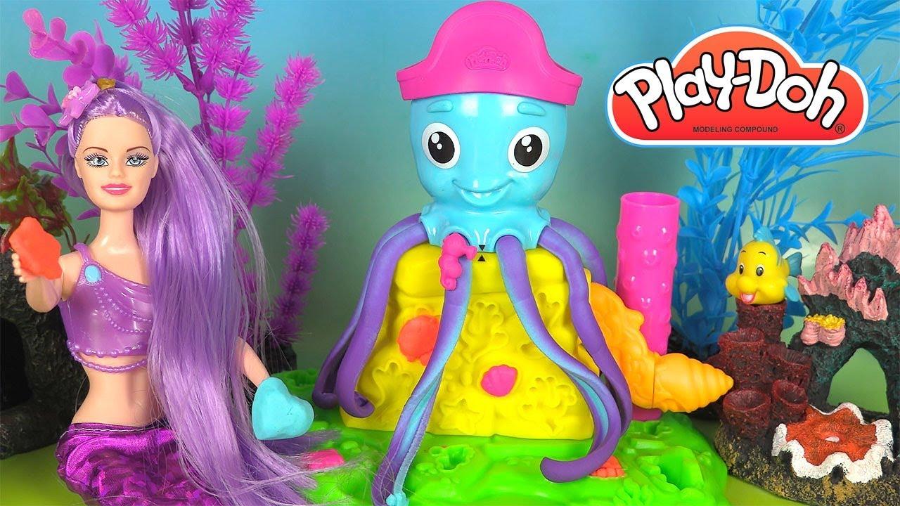 Pâte à Modeler Play Doh Poulpo la Pieuvre et Princesse Ariel - YouTube